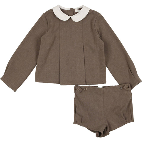 Coco Blanc Toffee Wool Peter Pan Set