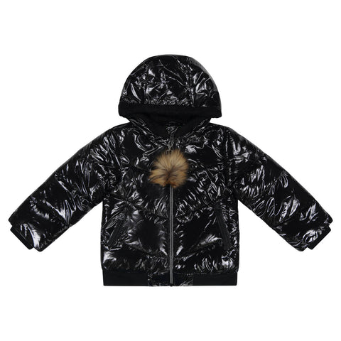 Cozy Coop Black Zip-Up Coat