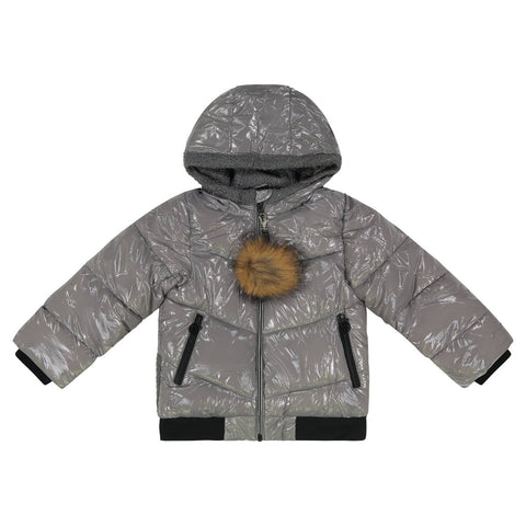 Cozy Coop Grey Zip- Up Coat