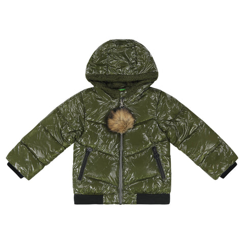 Cozy Coop Olive Zip-Up Coat