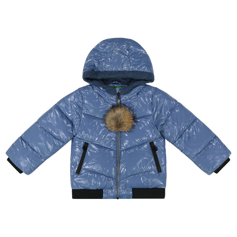Cozy Coop Sky Blue Zip-Up Coat