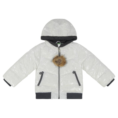 Cozy Coop White Zip- Up Coat