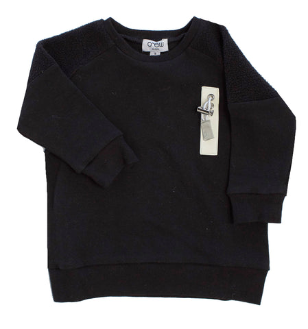 Crew Black Fleece Top