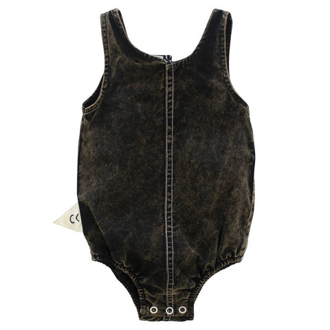 Crew Black Ombre Bleached Romper