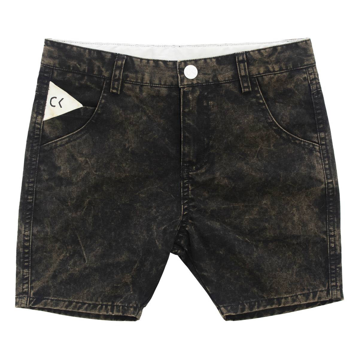 Crew Black Ombre Bleached Shorts