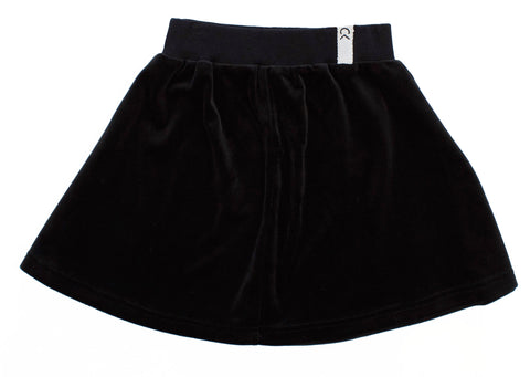 Crew Black Velour Skirt