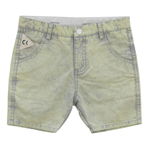 Crew Blue Ombre Bleached Shorts