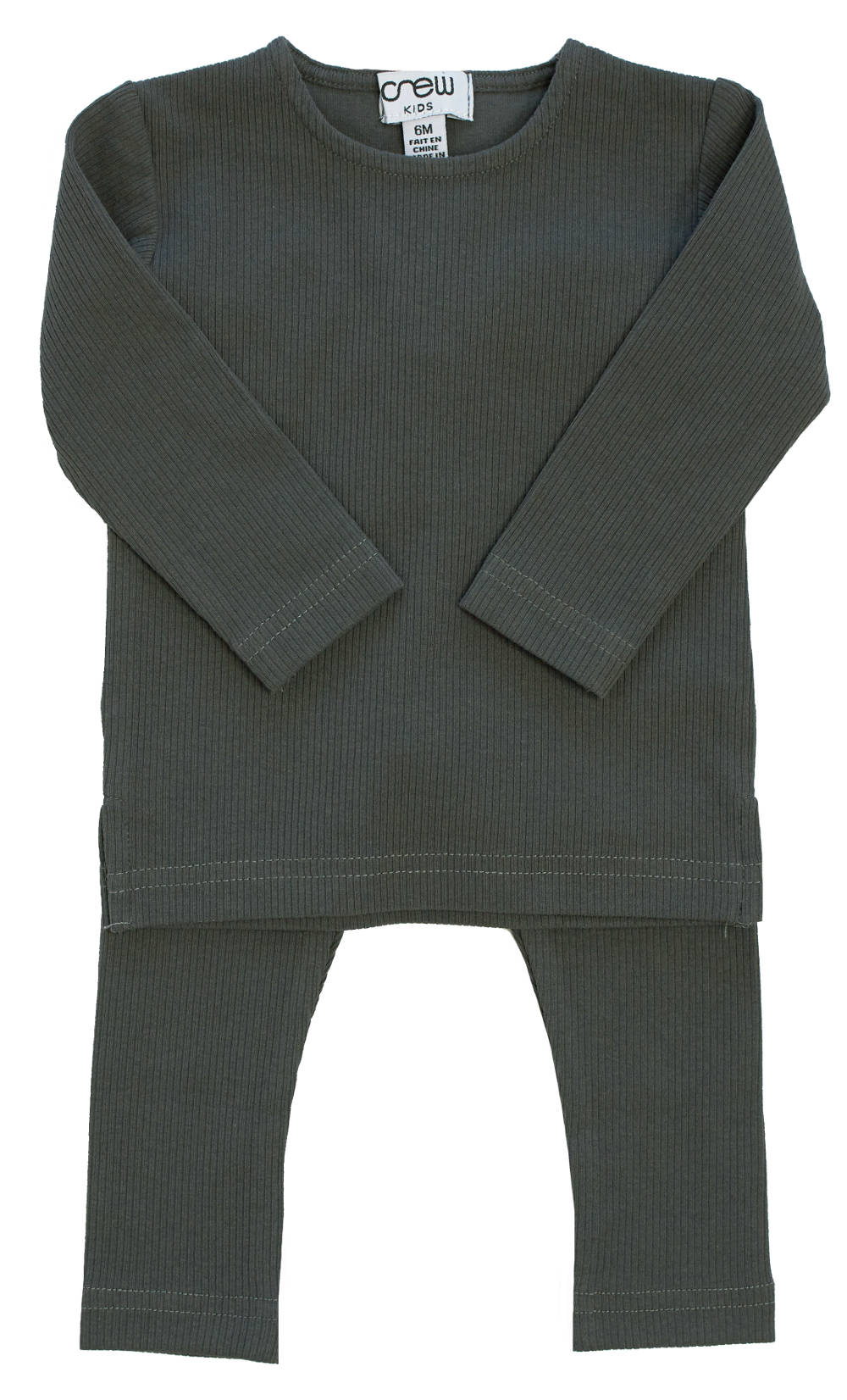 Crew Charcoal Ribbed Set