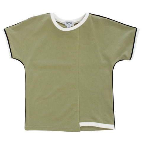Crew Khaki Piped T-Shirt