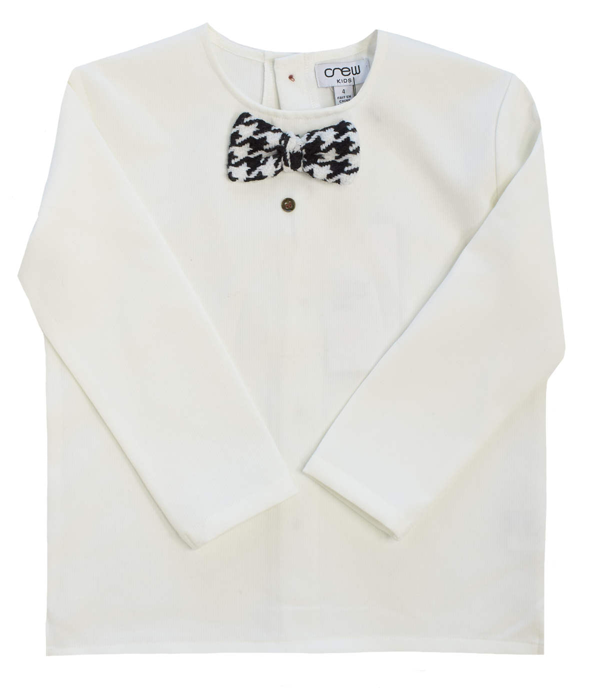 Crew Kids White Bowtie Top