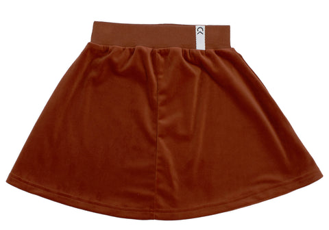 Crew Rust Velour Skirt