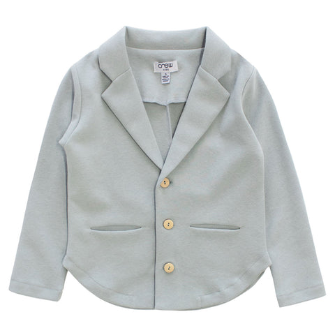 Crew Sage Cotton Knit Blazer
