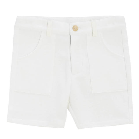 Crew White Cotton Knit Shorts