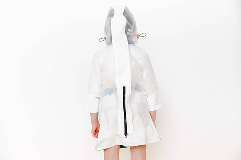 Crew White Raincoat