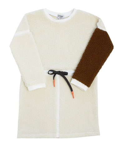 Crew White Sherpa Dress