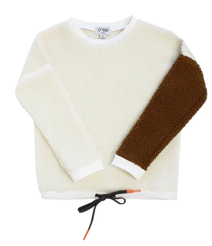 Crew White Sherpa Top