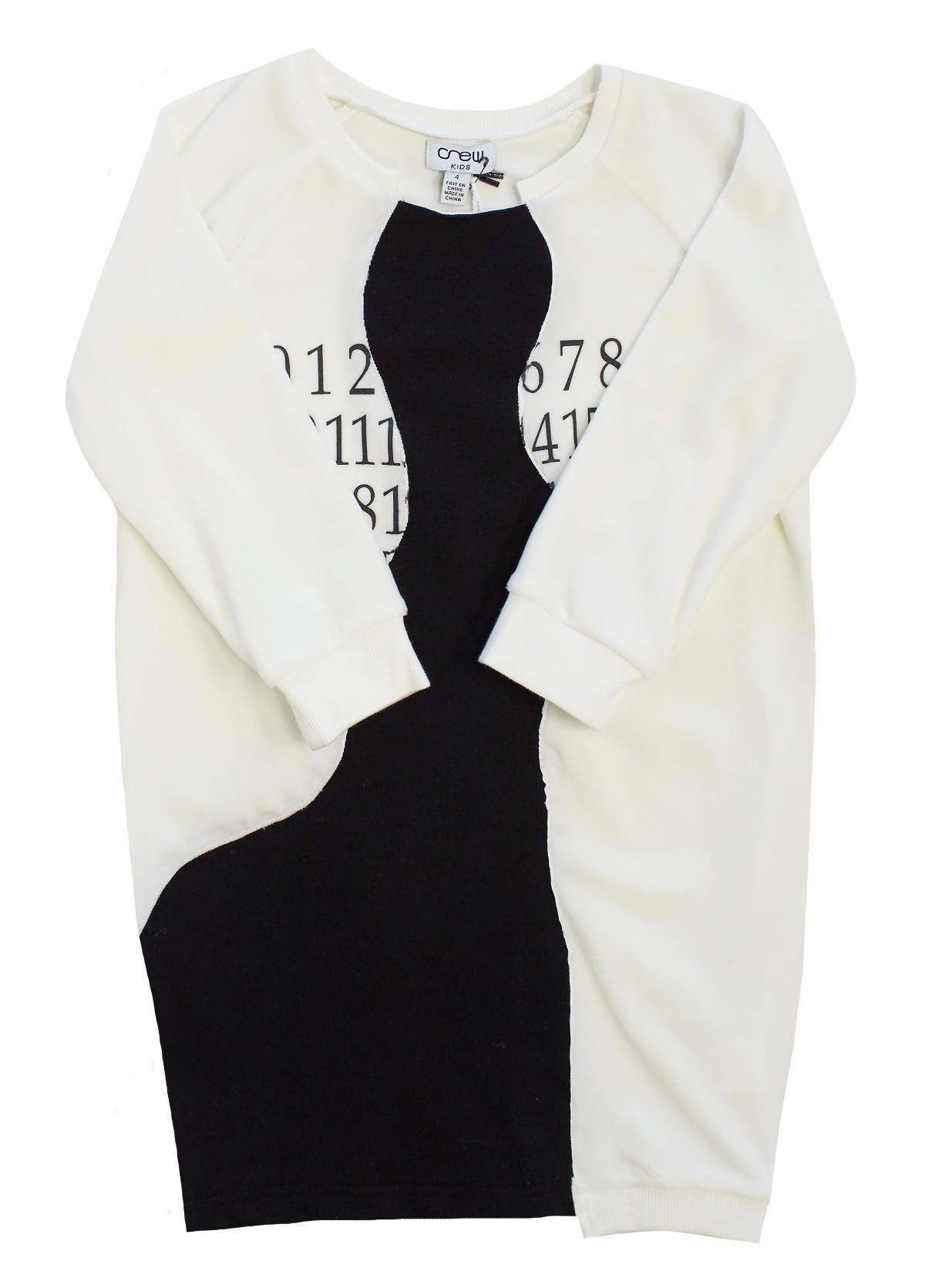 Crew White Velour Dress