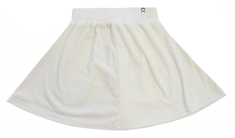Crew White Velour Skirt