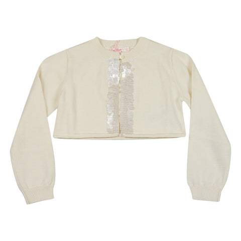 Billieblush Girls Ivory Cardigan - Young Timers Boutique