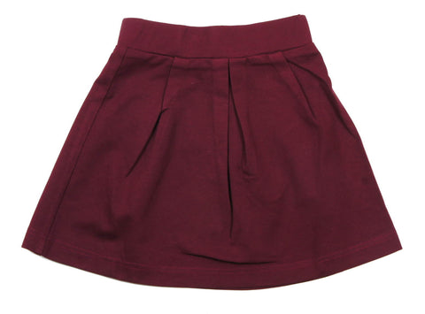 MeMe Burgundy Pleated Skirt - Young Timers Boutique