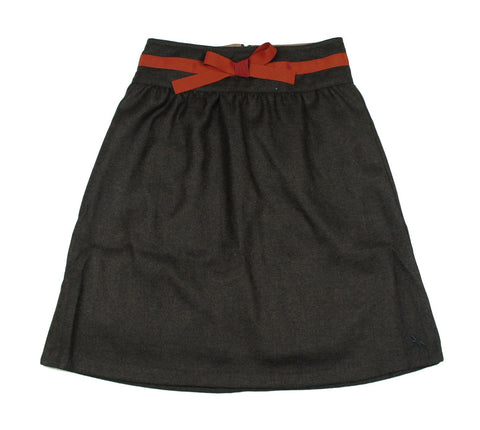 Bleu Comme Gris Vina Brown Skirt - Young Timers Boutique