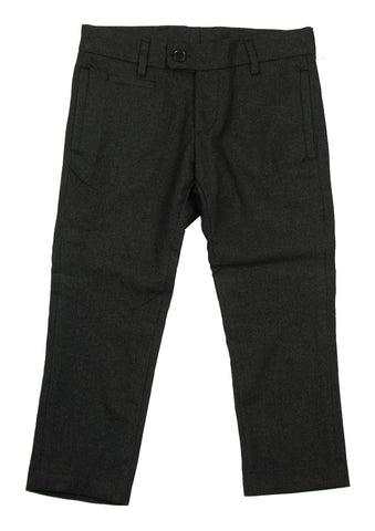 Euro Club Wool Effect Slim Fit Charcoal Pant - Young Timers Boutique  - 1