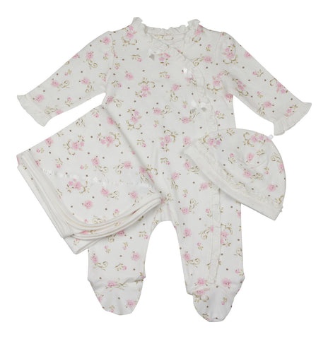 Little Me Ivory Blossoms Layette Set - Young Timers Boutique
