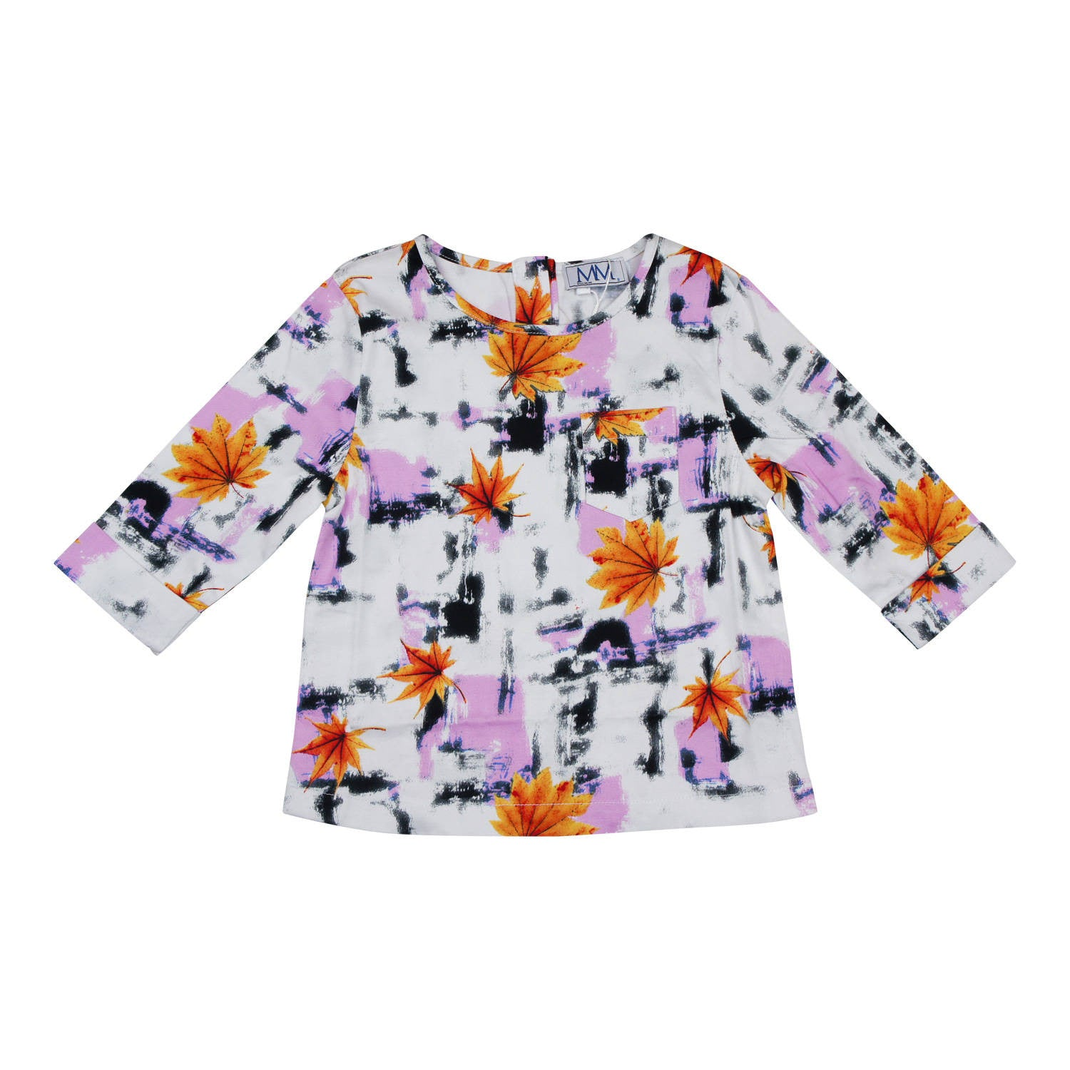 MeMe Leaf PrintTop - Young Timers Boutique