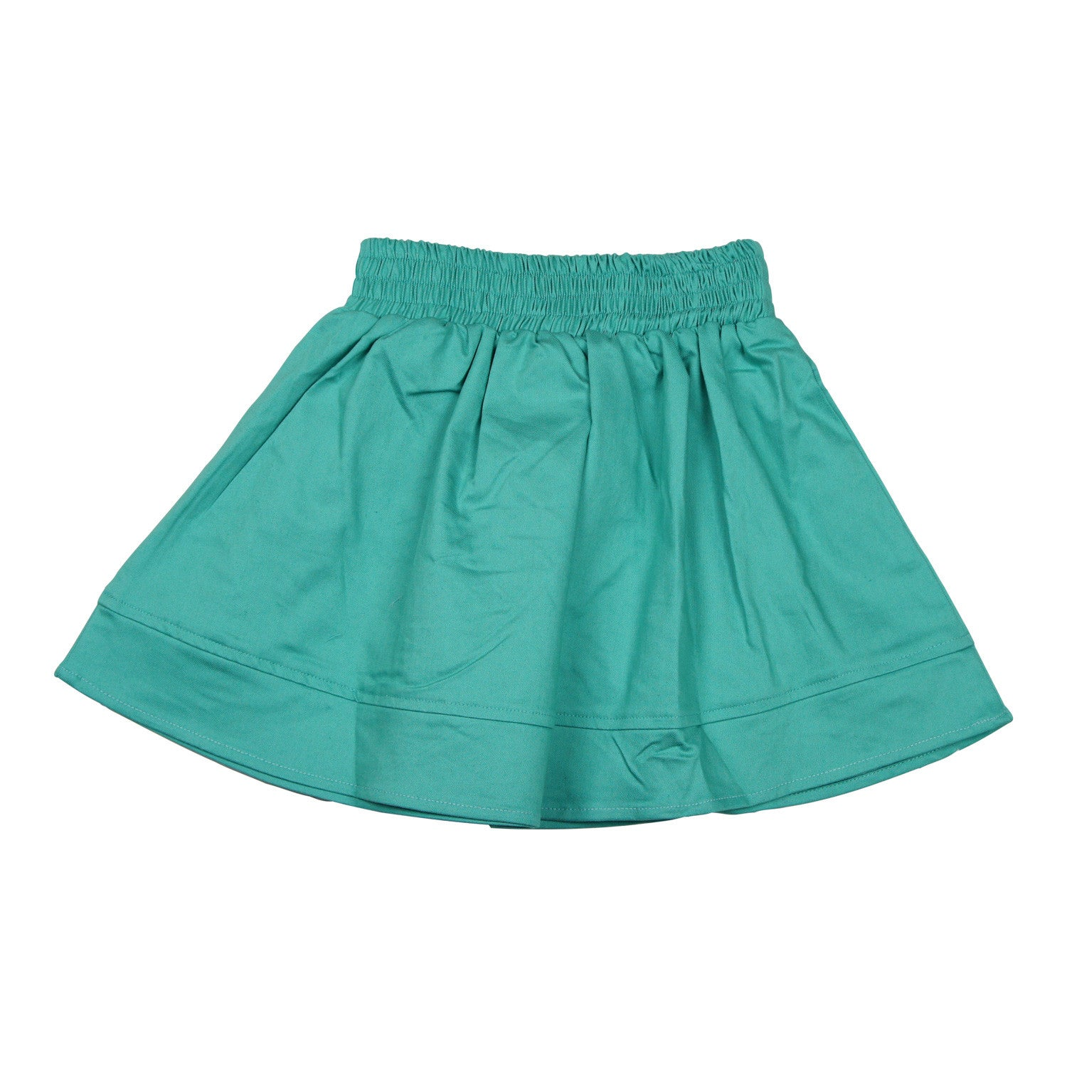 MeMe Smocked Waist Teal Skirt - Young Timers Boutique