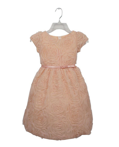 Rosette Tea Length Party Dress by Sweet Kids - Young Timers Boutique