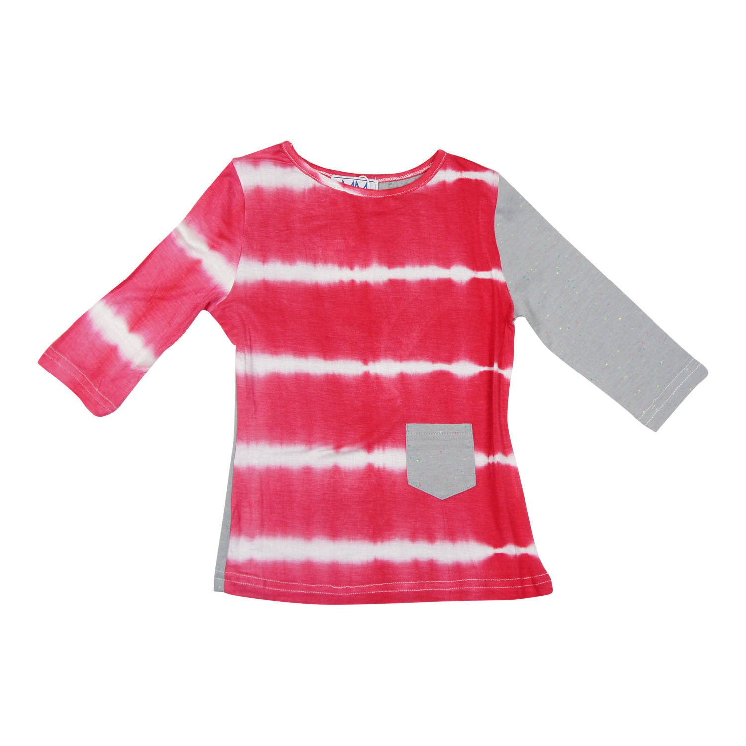 MeMe Salmon Tie-Dye Tee - Young Timers Boutique  - 1
