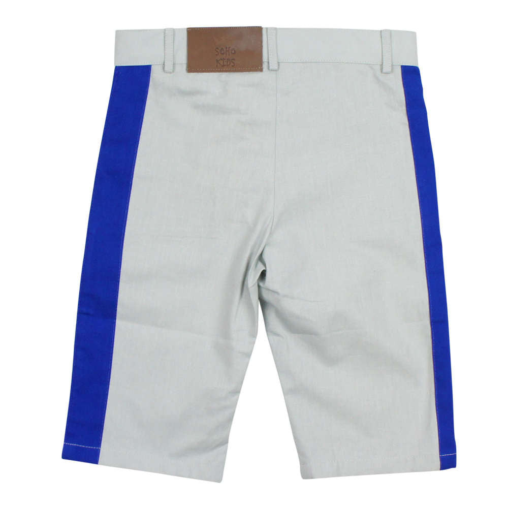 Soho Kids Boys' Grey Short with Blue Detail