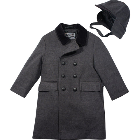 Rothschild Dark Charcoal John John Boy's Coat - Young Timers Boutique