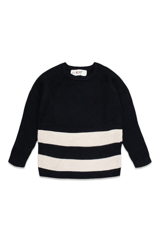 Nove Black Stripe Sweater