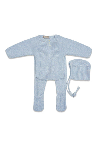 Carmina Porcelain Blue Mix Knit Set