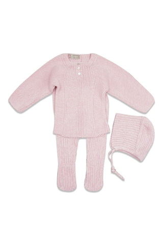 Carmina Antique Pink Mix Knit Set