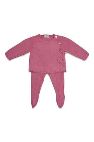 Carmina Candy Pink Wrap Knit Set