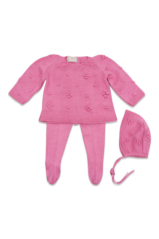 Carmina Pomegranate Flower Knit Set
