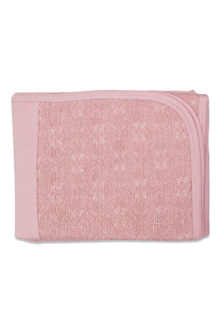 Chant De Joie Antique Pink Cotton Blanket