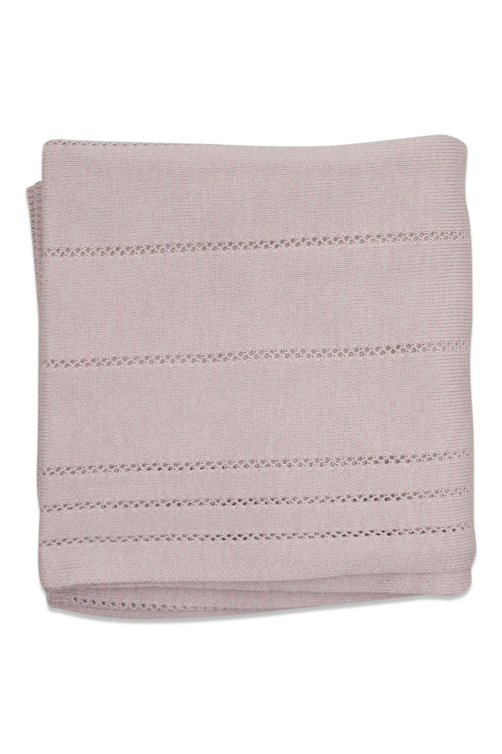Kipp Mauve Cable Blanket
