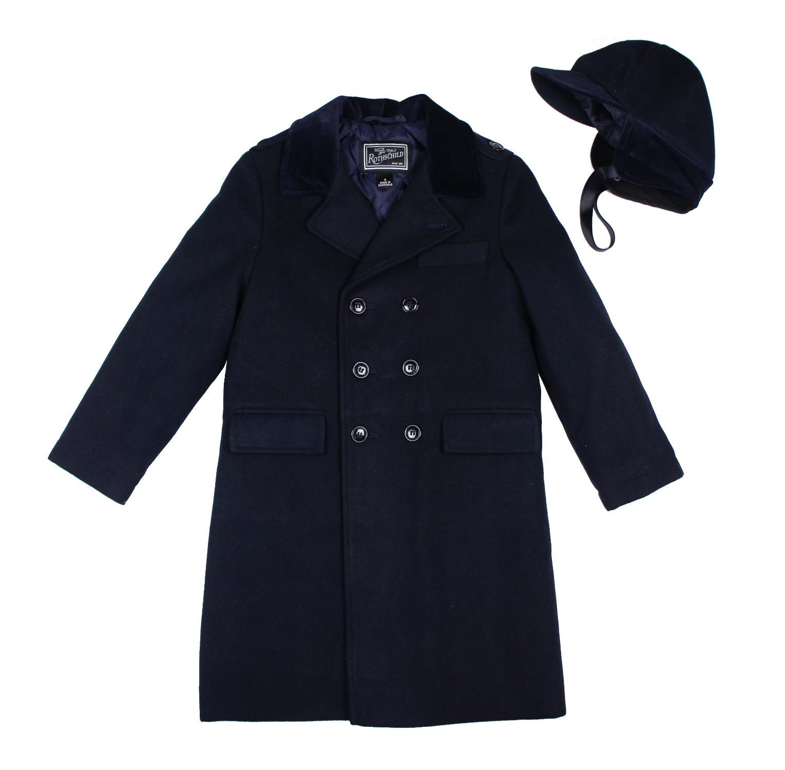 Rothschild Midnight Military Double Breasted John John Coat - Young Timers Boutique