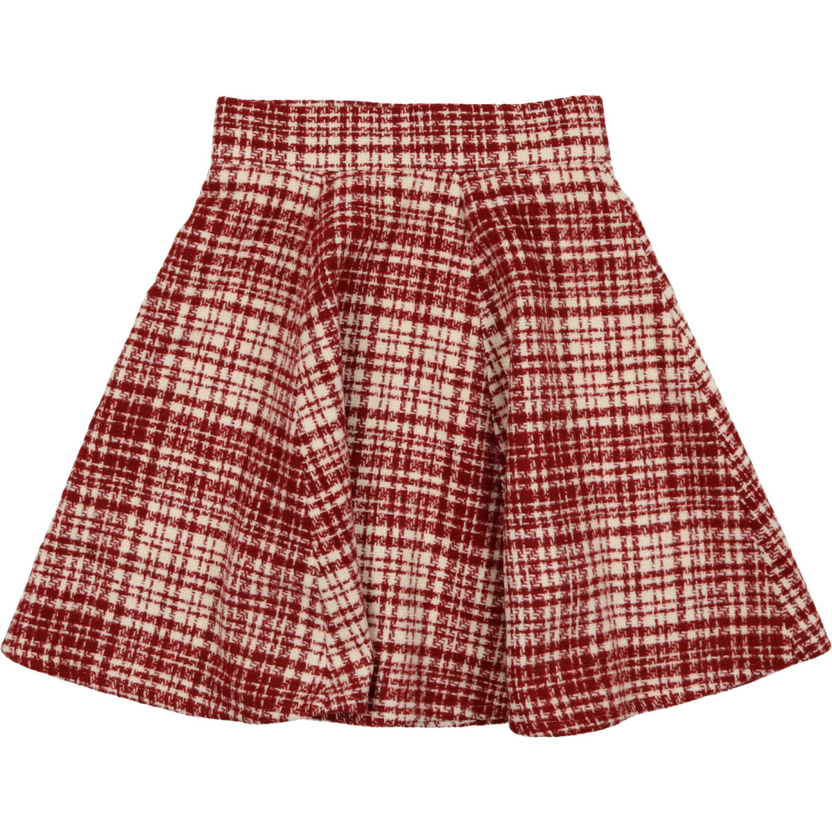 Delicat Red Plaid Circle Skirt