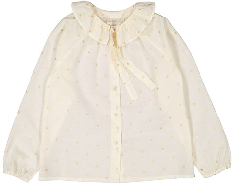 Louis Louise Cream Gold Dot Angele Blouse