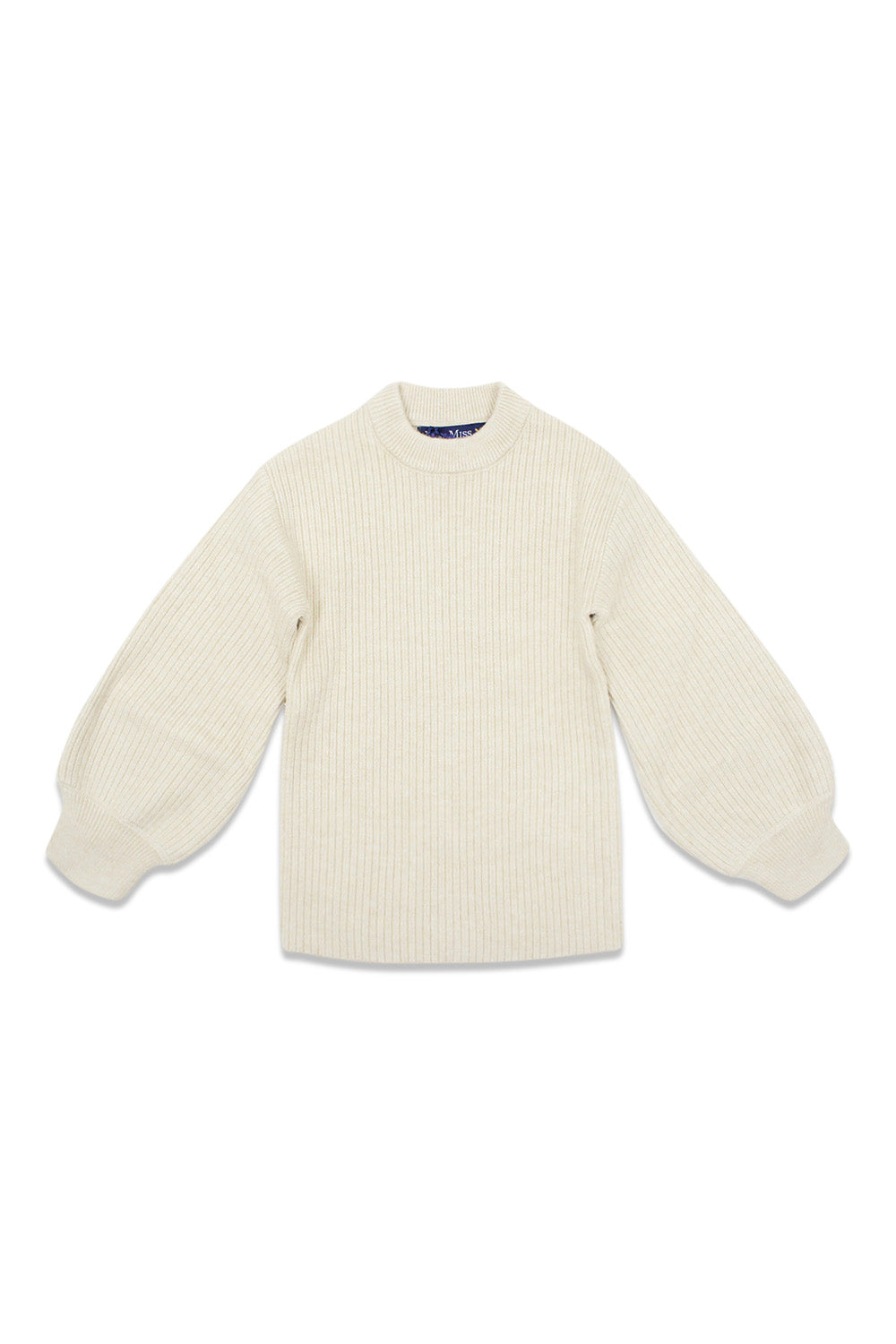 Euro Miss Ivory Puff Sleeve Sweater