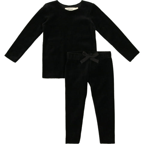 Urbani Black Velour Set