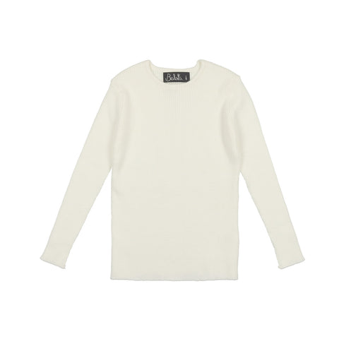 Belati Ivory Basic Crew Neck Sweater