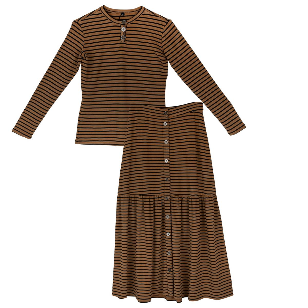 Froo Brown Striped Fiona Set