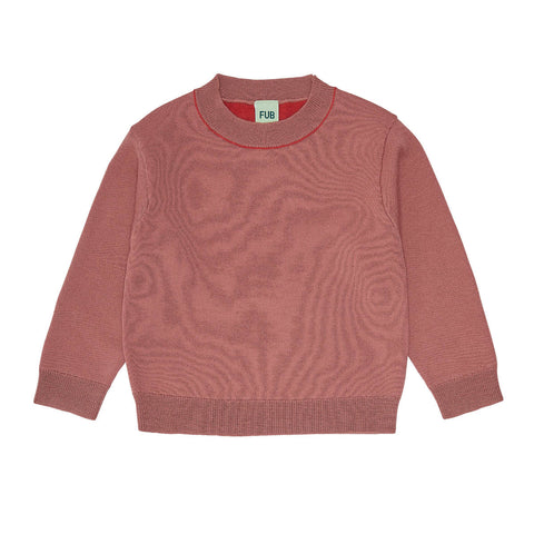 Fub Coral Contrast Sweater