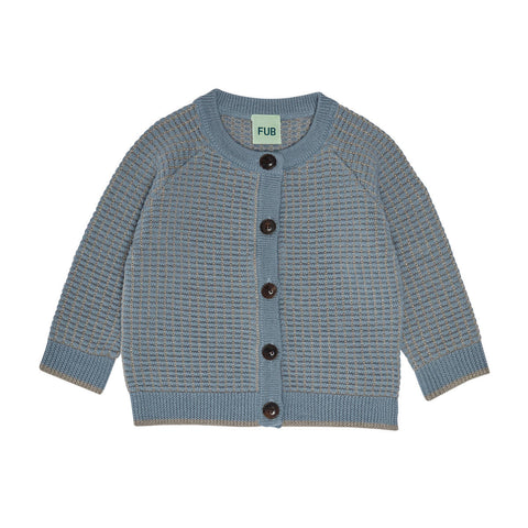 Fub Dusty Green Structure Cardigan