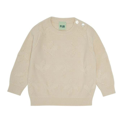 Fub Ecru Leaf Sweater
